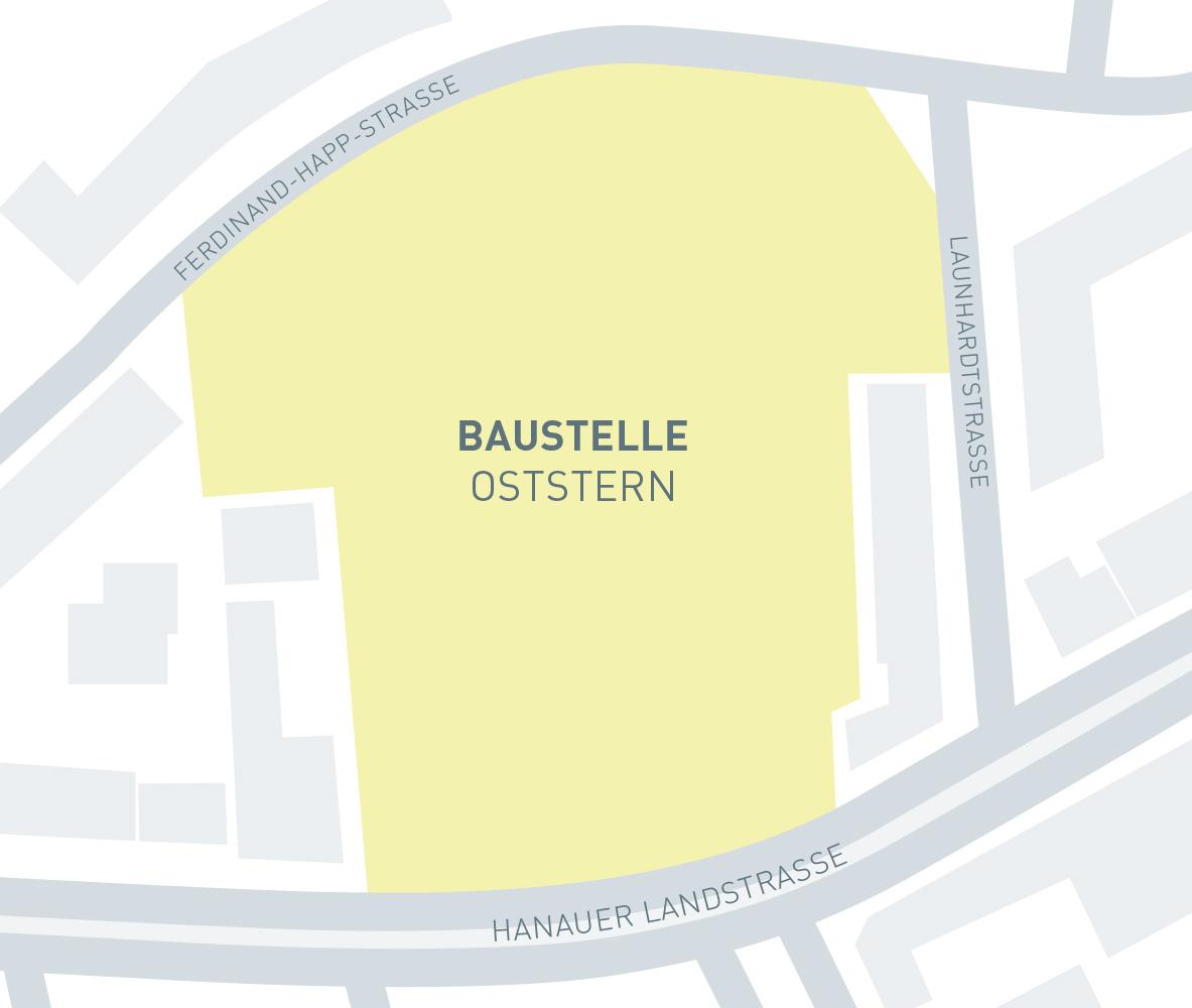 BCC Baustelle Oststern Lage