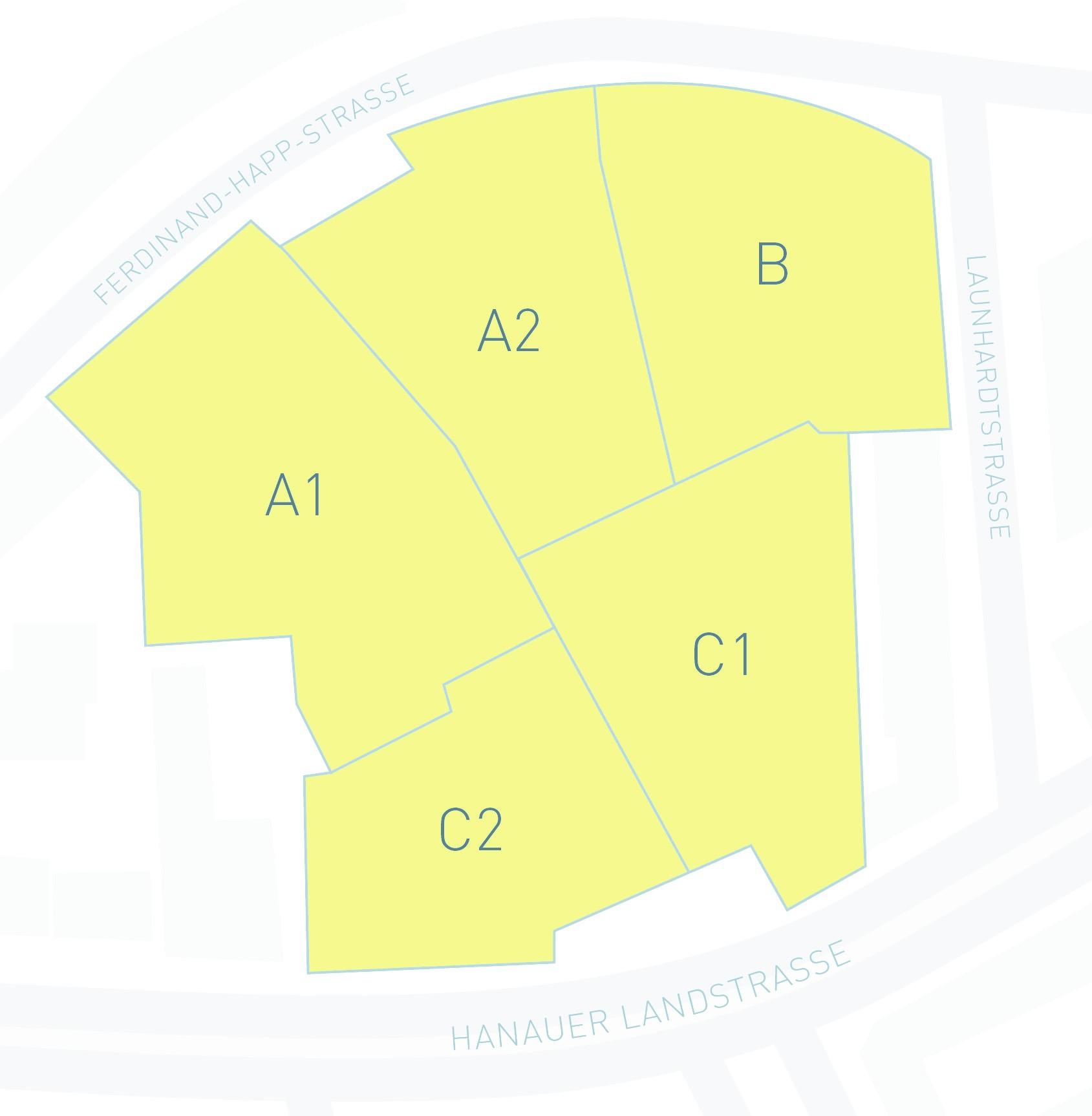 Lageplan Baufelder Oststern